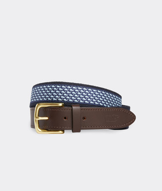 Vineyard Vines Vineyard Whale Canvas Club Belt