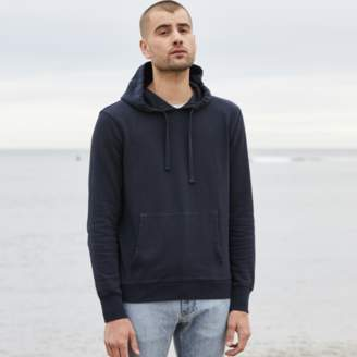 DSTLD Mens French Terry Pullover Hoodie in Midnight Blue