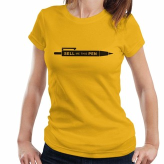 Cloud City 7 Wolf of Wall Street Sell Me This Pen Minimal Women's T-Shirt Gold