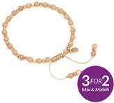 Lola Rose Portobello Rose Gold Tone Semi Precious Peach Moonstone Friendship Bracelet