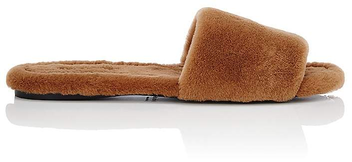 The Row Women's Ellen Mink Fur Slide Sandals