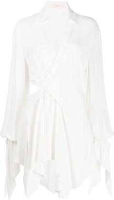 Ssheena Cut-Out Flared Dress