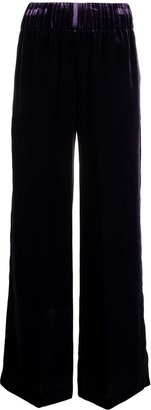 Aspesi Wide Leg Velour Trousers