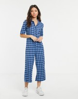 Daisy Street boilersuit in check
