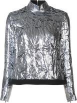 DELPOZO zip-up turtleneck blouse