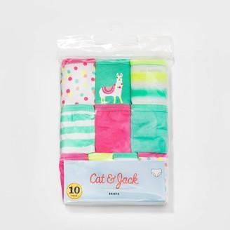 Cat & Jack Toddler Girls' 10pk Llama Printed Briefs - Cat & JackTM