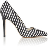 Alice + Olivia Alice & Olivia ALICE & OLIVIA WOMEN'S DINA TOO STRIPED LEATHER PUMPS SIZE 6