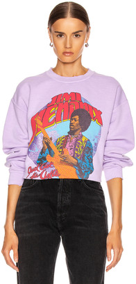 MadeWorn Jimi Hendrix Just Ask The Axis Sweatshirt in Lilac | FWRD