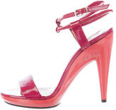 Chloé Patent Leather Ankle-Strap Sandals