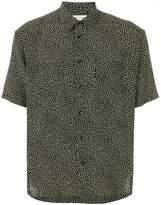 Saint Laurent Yves collar printed shirt