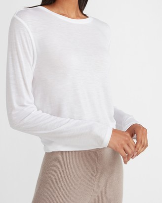 Express Relaxed Long Sleeve Crew Neck Tee
