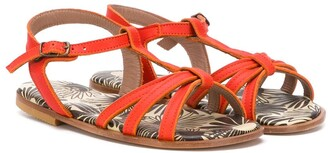 Pépé Strappy Flat Sandals