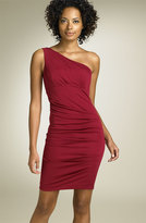 One Shoulder Matte Jersey Dress