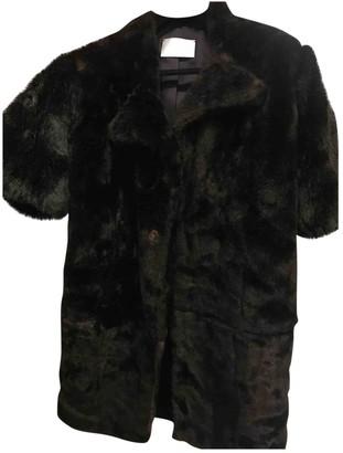 PEET DULLAERT Black Faux fur Coats