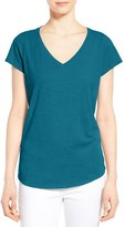 Eileen Fisher Women's Organic Cotton V-Neck Short Sleeve Tee