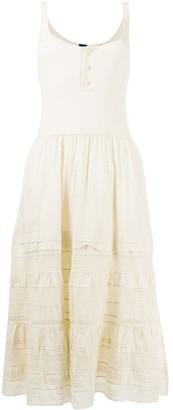 Polo Ralph Lauren Embroidered Cotton Midi Dress