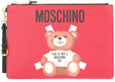 Moschino toy bear paper cut out clutch - women - Leather - One Size