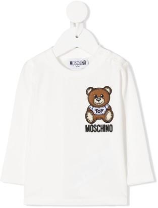 MOSCHINO BAMBINO Teddy Bear embroidery sweatshirt