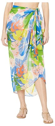 Echo New York Cutout Floral Pareo Wrap (Multi) Women's Swimwear