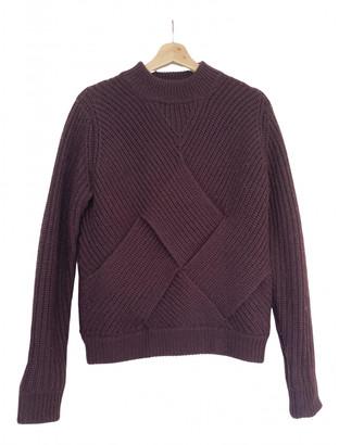 Carven Burgundy Wool Knitwear for Women