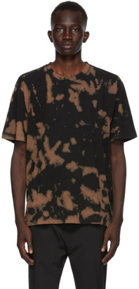 Cmmn Swdn Black and Brown Bleach Ridley T-Shirt