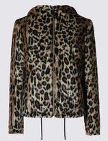 Marks and Spencer Faux Fur Bomber Jacket