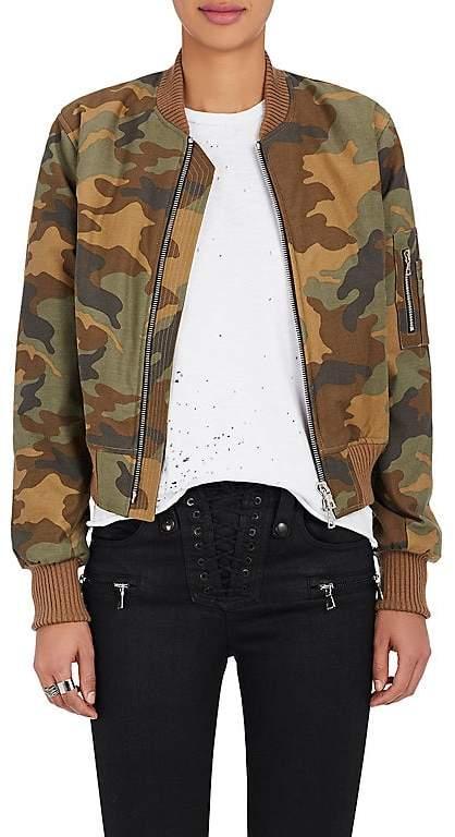 Amiri Women's Camouflage Cotton Insulated Bomber Jacket