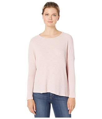 True Grit Dylan by Solid Burnout Waffle Long Sleeve Modern Slant Crew Top