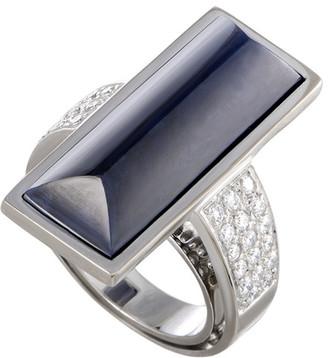 Lapis Vasari 18K White Gold 0.85 Ct. Tw. Diamond & Lazuli Ring