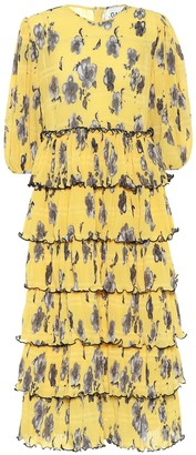 Ganni Exclusive to Mytheresa Floral crepe midi dress