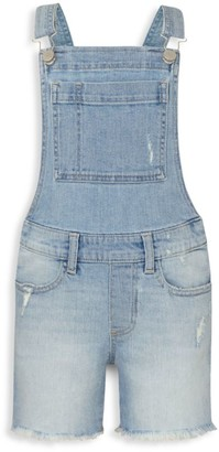 DL1961 Little Girl's Nora Distressed Denim Overalls