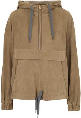 Brunello Cucinelli Half Zip Hooded Pullover
