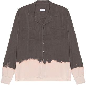 Rhude Hawaiian Bleach Long Sleeve Shirt in Grey | FWRD