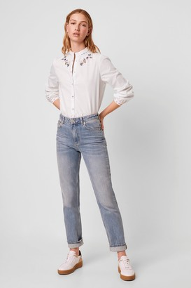 French Connection Ezra Cotton Embroidered Shirt