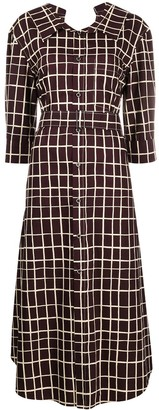 Marni Check Shirt Dress
