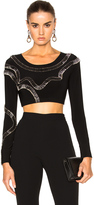 Norma Kamali x FWRD Exclusive Safety Pins Cropped Top