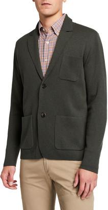 Neiman Marcus Men's Wool/Cashmere Empty Sweater Cardigan