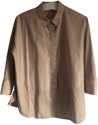 Cos Beige Cotton Top for Women