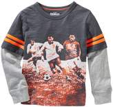 Osh Kosh Boys 4-7 Mock-Layered Soccer Graphic Tee