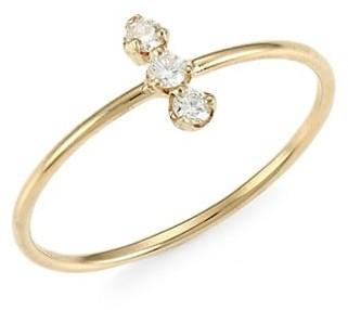Zoë Chicco 14K Yellow Gold & Diamond Trio Ring