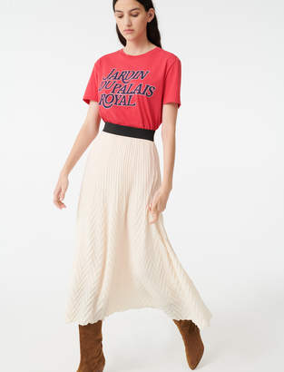 Maje Geometric pleated skirt