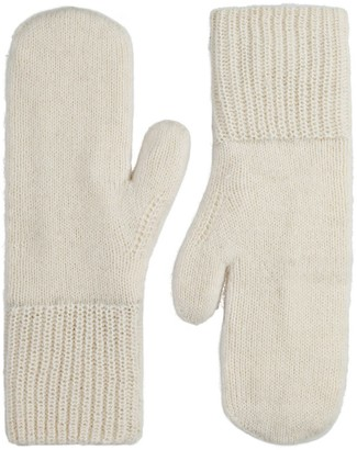 Alpaca Loca Knitted Mittens Off White Alpaca Wool