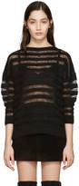 Saint Laurent Black Mohair Sweater