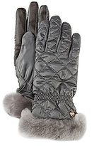 UGG Quilted Tech Gloves with Shearling Cuffs & Faux-Fur Lining
