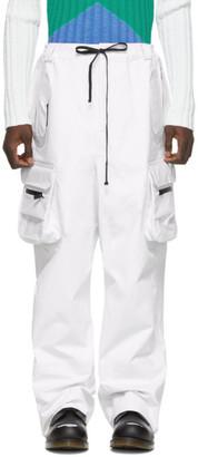 Raf Simons White Templa Edition Loose Shell Cargo Pants