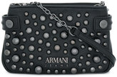 Armani Jeans studded logo cross-body bag