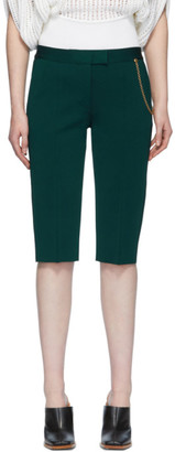Givenchy Green Chain Bermuda Shorts