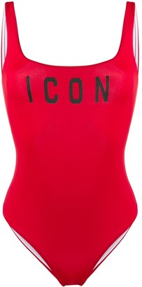 DSQUARED2 Icon print swimsuit