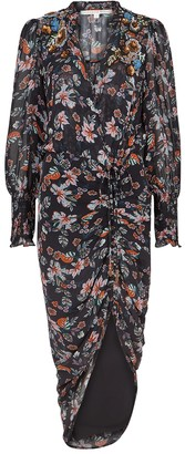 Veronica Beard Shaia floral-print chiffon midi dress
