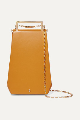 Maison Etnad - Eloine Mini Suede And Textured-leather Shoulder Bag - Yellow